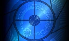 Blue, Technology, Circle, Computer Wallpaper royalty free stock image