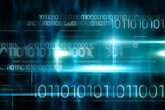 Blue technology design with binary code Stock Photos