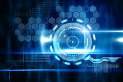 Blue technology design with circle Royalty Free Stock Photo