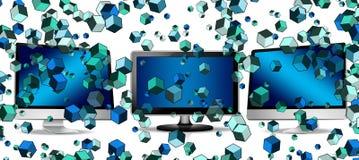 Blue, Technology, Design, Pattern royalty free stock photos