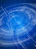 Blue technology illustration Stock Photos