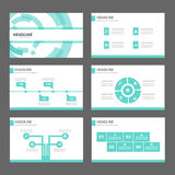 Blue Technology Infographic elements icon presentation template flat design set for advertising marketing brochure flyer Royalty Free Stock Images