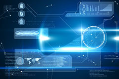 Blue technology interface with glow Royalty Free Stock Images