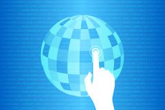 Blue Technology Touch World Background. Vector Illustration Royalty Free Stock Photo
