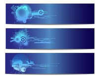 Blue Technology Vector Banner. Blue Technology Abstract Vector Banner Stock Photography