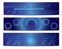 Blue Technology Vector Banner. Blue Technology Abstract Vector Banner Royalty Free Stock Photos