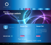 Blue Technology Website Royalty Free Stock Images