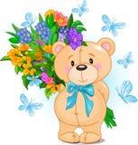 Blue Teddy Bear vector illustration