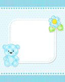 Blue teddy bear card Royalty Free Stock Photography