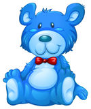 A blue teddy bear Royalty Free Stock Image