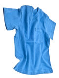 Blue Tee Shirt with Pocket. Isolated on White with a Clipping Path Royalty Free Stock Images