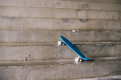 Blue teens skateboard Stock Photos