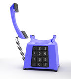 Blue telephone Royalty Free Stock Photos