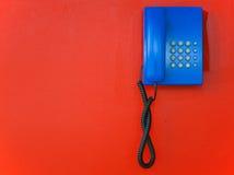 Blue telephone Stock Images