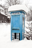 Blue Telephone Booth Stock Photography