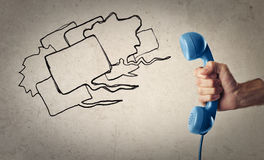 Blue telephone Royalty Free Stock Images
