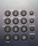 Blue Telephone Keypad Royalty Free Stock Photo