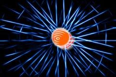 Blue teleportation rays illustration background. Hd Stock Photo