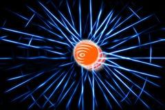 Blue teleportation rays illustration background. Hd Royalty Free Stock Photography