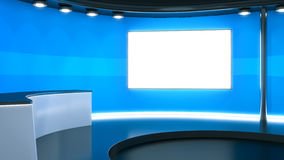 A blue television studio background Stock Photography