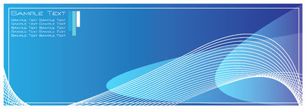 Blue Template Background Royalty Free Stock Photography