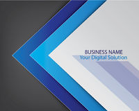 Blue template brochure cover design Royalty Free Stock Photos