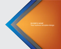 Blue template brochure cover design Stock Photography