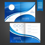 Blue template design for advertising brochure Stock Image
