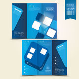 Blue template design for advertising brochure Royalty Free Stock Photos