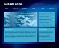 Blue template of website - eps 10 Stock Photography