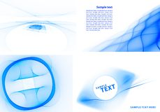 Blue templates Stock Photos