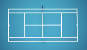 Blue tennis court Royalty Free Stock Photo