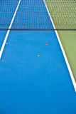 Blue Tennis Court Net Royalty Free Stock Images