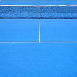 Blue tennis court Royalty Free Stock Images