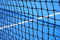 Blue tennis court Royalty Free Stock Photography