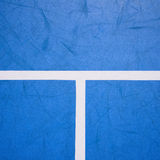 Blue tennis court surface Royalty Free Stock Photos