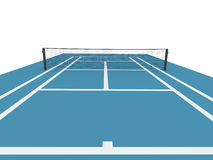 Blue tennis court Stock Photos