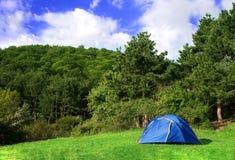 Blue tent Stock Photos