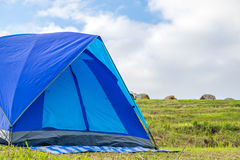 Blue Tent and blue sky Royalty Free Stock Photo