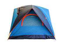 Blue tent camping isolated on white Royalty Free Stock Photo