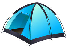 Blue tent Stock Image