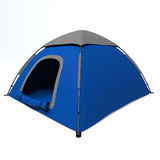 Blue tent on a white background. Royalty Free Stock Photography