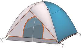 Blue tent. Blue white tent for tourism Royalty Free Stock Image