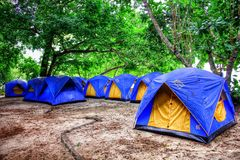 Blue tents Royalty Free Stock Image