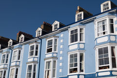 Blue terraced houses Royalty Free Stock Images