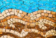 Blue and terracotta smalt mosaic Royalty Free Stock Image