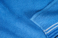 Blue terry towel Stock Photography