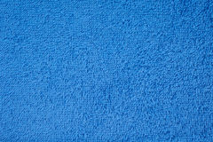 Blue terry towel Royalty Free Stock Images