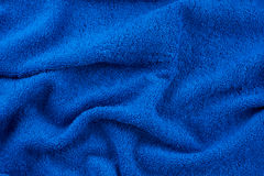 Blue terry towel Royalty Free Stock Photography