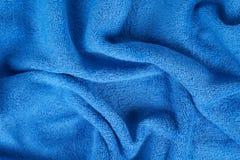 Blue terry towel Stock Photos